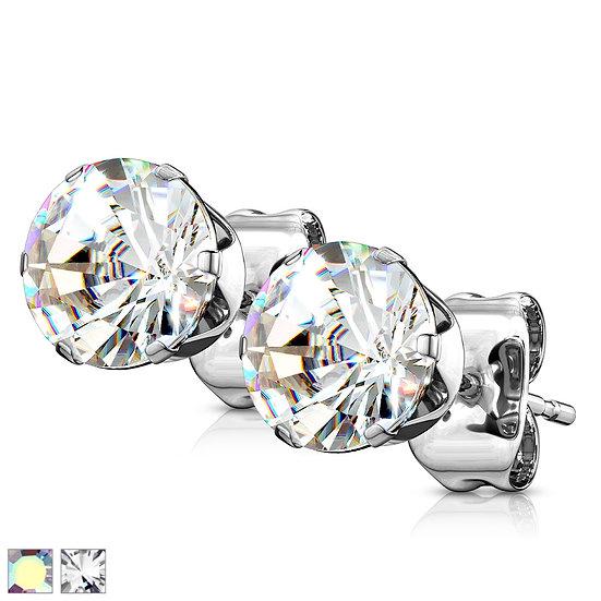 DIAMOND SILVER STUD CHILDRENS EARRINGS