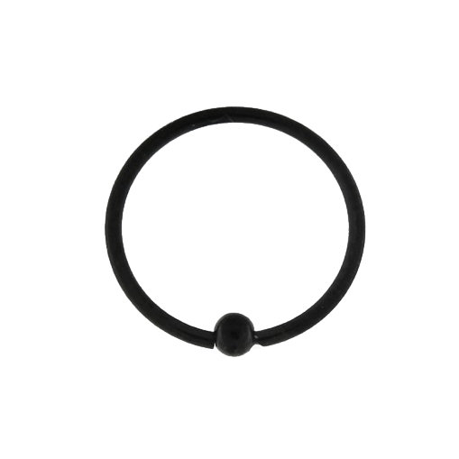 BLACK CBR BCR CAPTIVE BALL SEPTUM HOOP RING