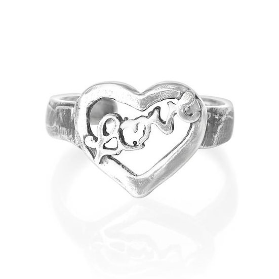 925 solid sterling silver love heart toe midi ring