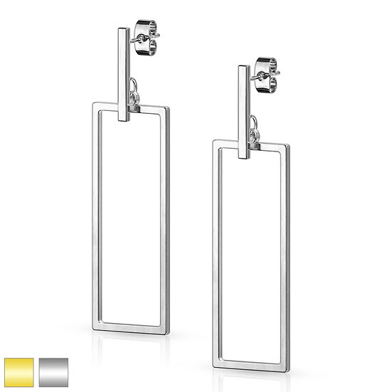 Modern Rectangle Shape Dangle Earrings