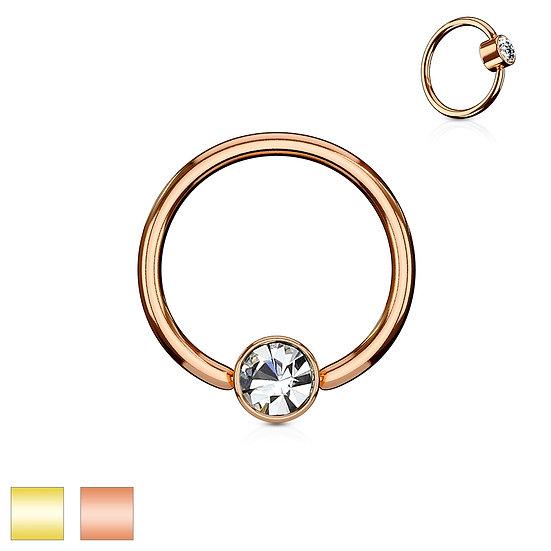 FLAT DIAMOND NOSE SEPTUM BENDABLE HOOP RING