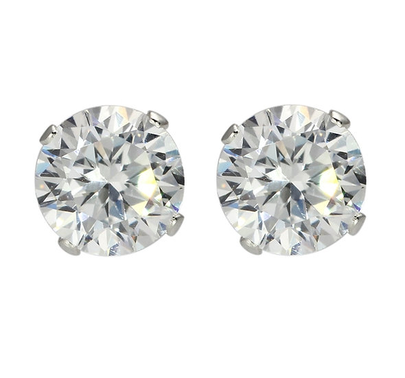 Solid Sterling Silver Cubic Zirconia Earrings