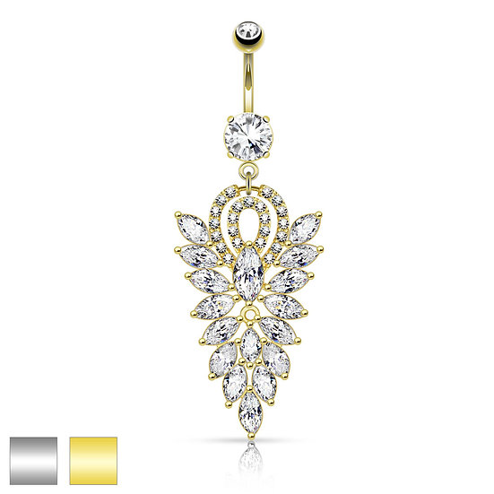DIAMOND CHANDELIER NAVEL JEWELRY RING
