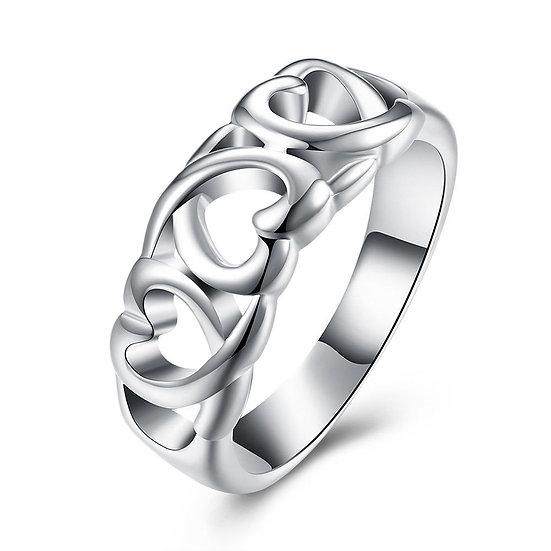 Love Heart Band Womens Ring