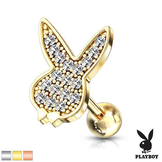 Playboy Bunny Cartilage Labret Stud