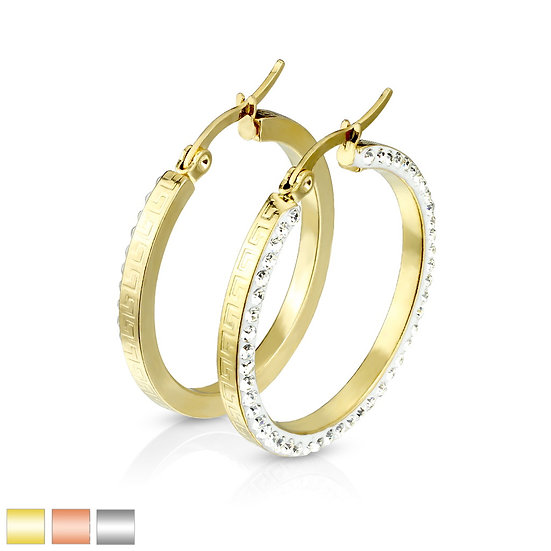 Diamond Maze Hoop Earrings