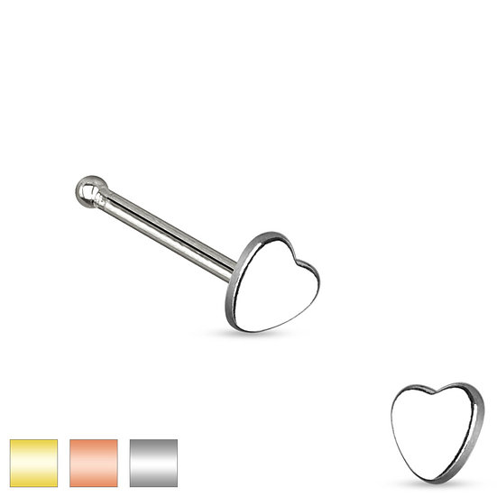 Mother Jewel Heart Nose Piercing Stud