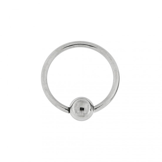 SILVER CBR BCR CAPTIVE 3MM BALL SEPTUM HOOP RING