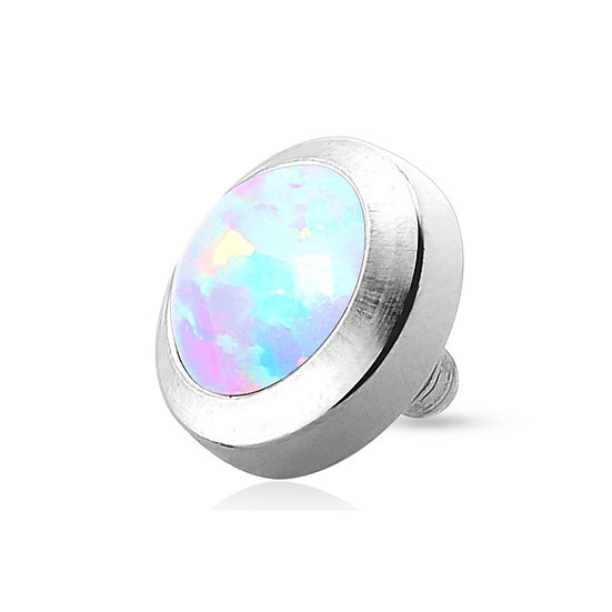 RAINBOW OPAL DOME DERMAL PIERCING IMPLANT TOP
