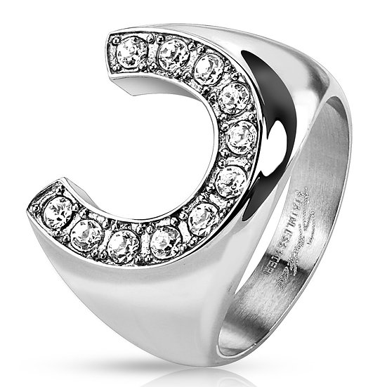 Diamond Lucky Horseshoe Ring