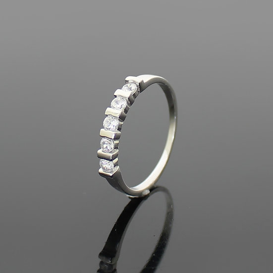Diamond Rhodium Sterling Silver Wedding Band Ladies Ring