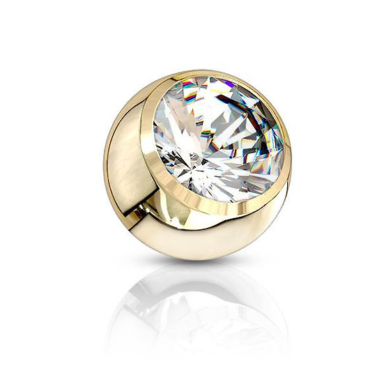 Yellow Gold Titanium Crystal Replacement Ball
