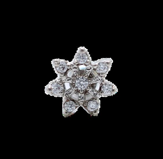 Micro Diamond Flower Body Stud