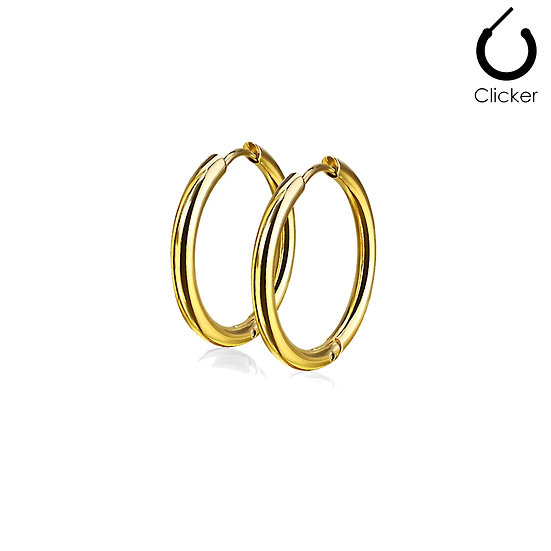 Yellow Gold Circle Hoop Earrings