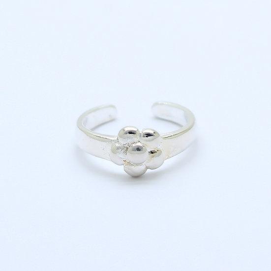 Silver Daisy Flower Toe Midi Ring