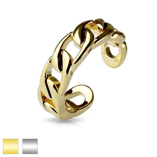 Linked Chain Toe Midi Ring