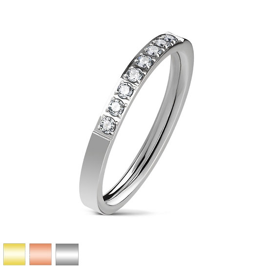 DIAMOND WEDDING STACKER BAND RING