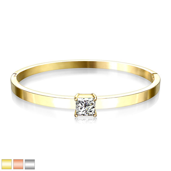 Square Diamond Hinge Bangle