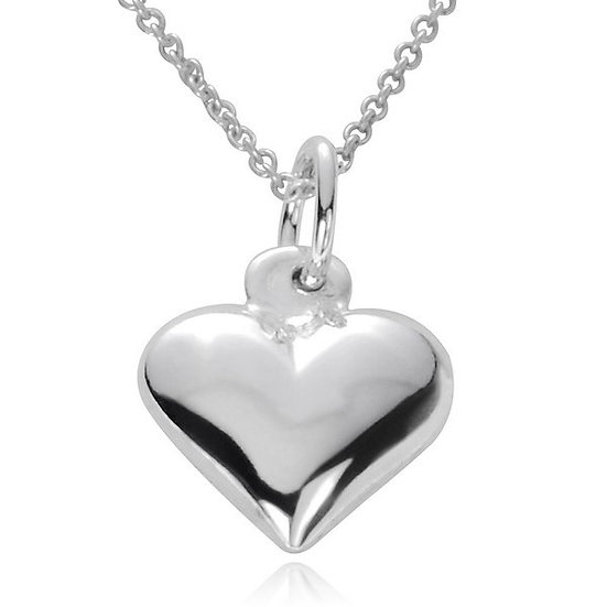 FLOATING SILVER LOVE HEART PENDANT NECKLACE