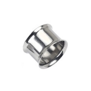 SILVER SCREW DOUBLE FLARED TUNNEL PLUG SPACER EARLET