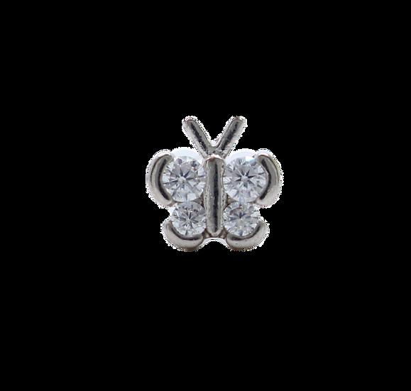 Diamond Butterfly Body Stud
