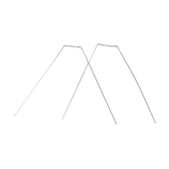 925 Sterling Silver Straight Bar Thread Earrings