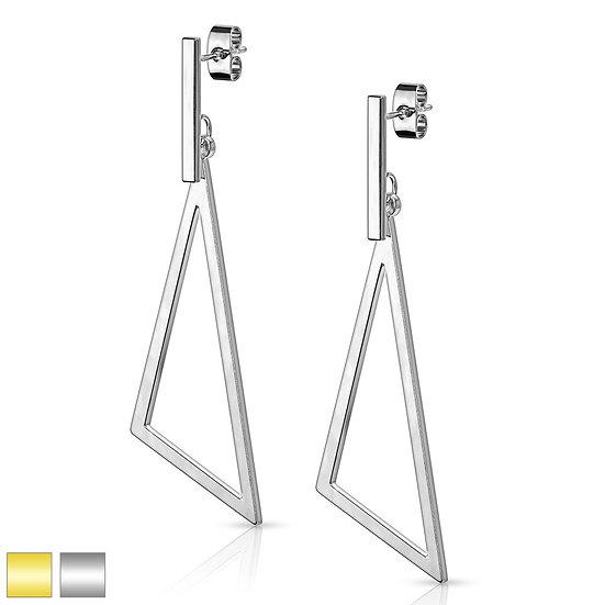 Modern Triangle Shape Dangle Earrings