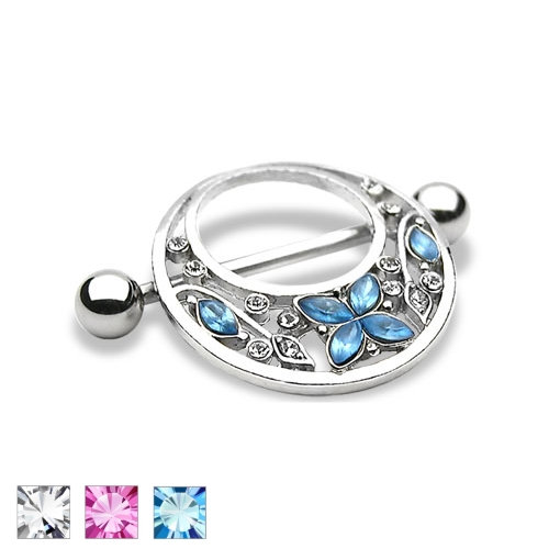 BUTTERFLY ROUND SHIELD NIPPLE BAR