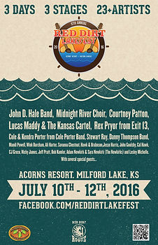 Red Dirt LakeFest 2016 Lineup