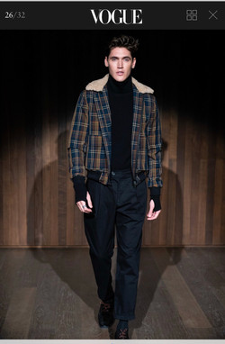 Isaac Carew for Oliver Spencer AW19