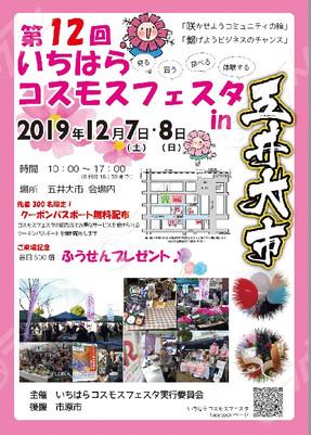 2019.12.08第12回いちはらコスモスフェスタに出演〜