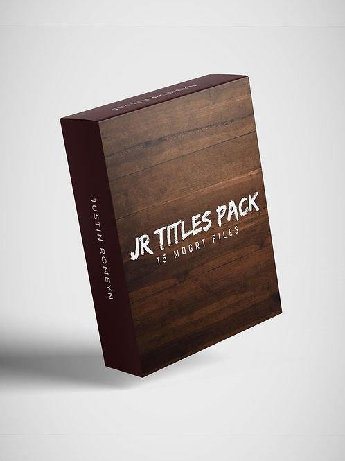 JR Titles Pack