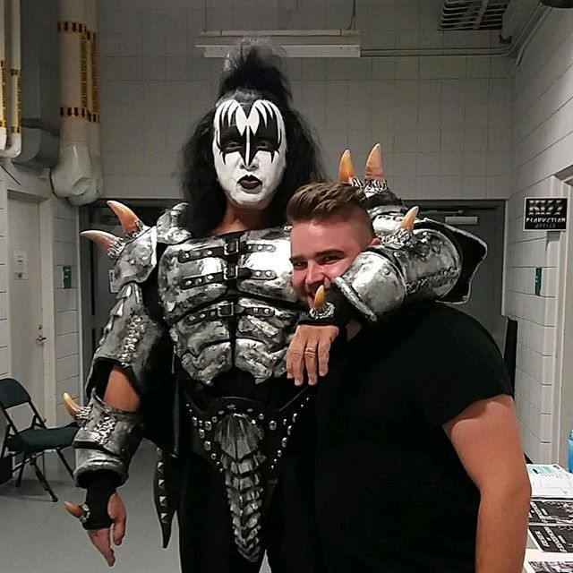 Trino with Gene Simmons of KISS