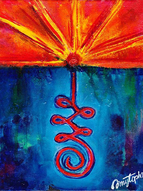 The Spiral Path - 8x10 Acrylic on Gallery Wrapped Canvas