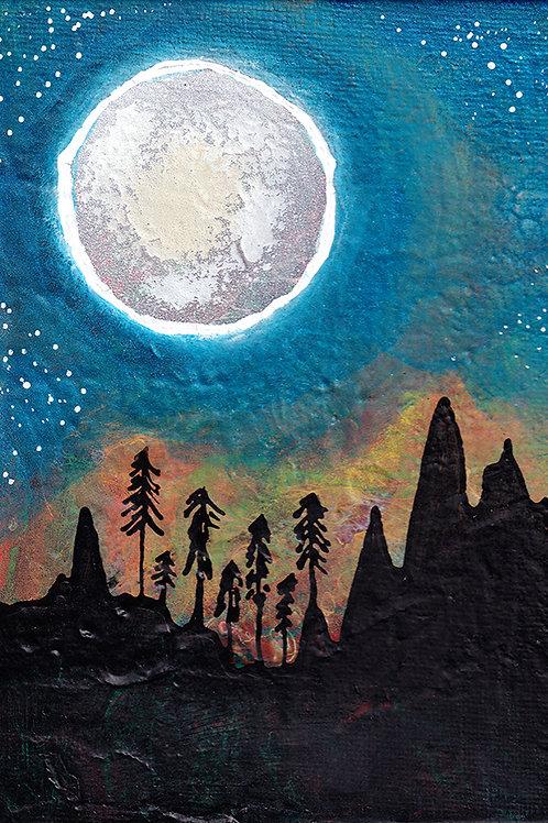 Radiant Moon - 8x10 Fine Art Giclee Print