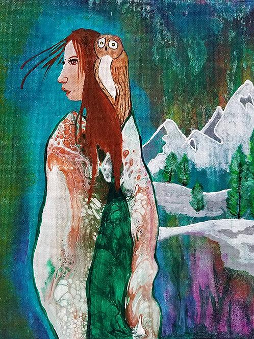 Whispered Wisdom - 8x10 Acrylic on Canvas Board