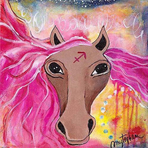 Sagittarius - 12x12 Acrylic on Gallery Wrapped Canvas