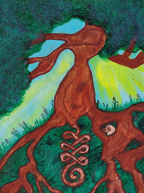 Spiral Tree - 8x10 Acrylic on Gallery Wrapped Canvas