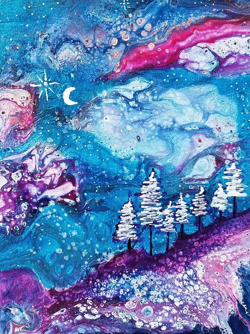 Silent Night - 6x8 Acrylic on Canvas Board