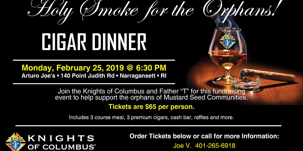 Holy Smoke for the Orphans! | Cigar Dinner