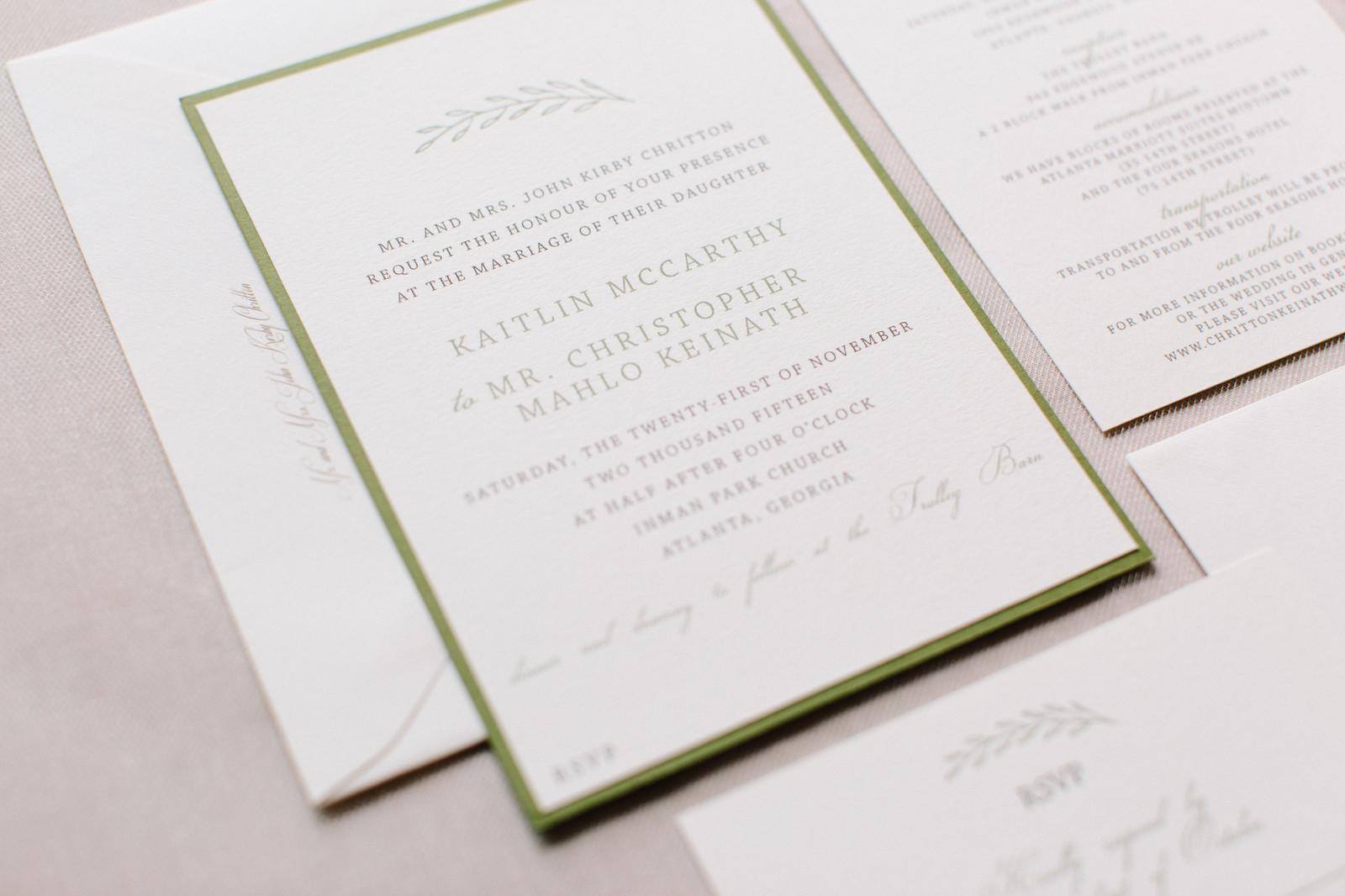 Katie & Chris | Custom Wedding Invitations | Woods&Company