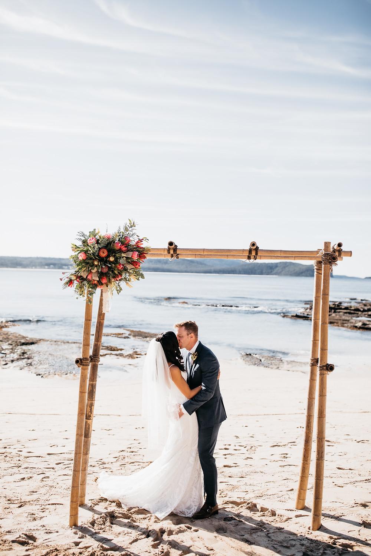 South Durras Beach Elopement shot by wedding and elopement photographer Matt Ashton Photography