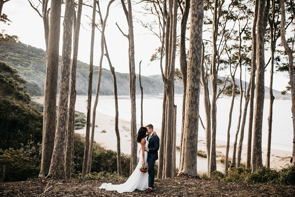 South Coast elopement of a couple on the south coast at Depot Beach. Shot by Wedding and elopement photographer Matt Ashton Photography