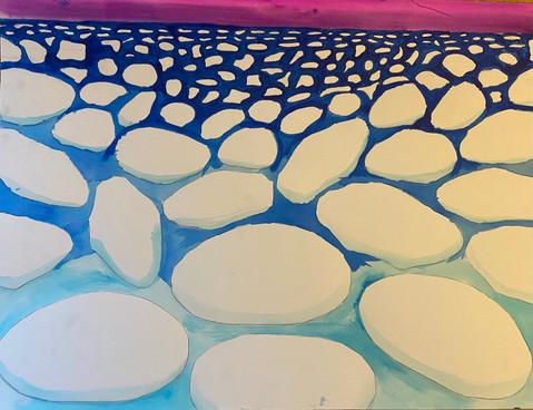 Pancake Ice on Lake Superior