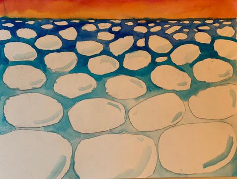 Pancake Ice Lake Superior