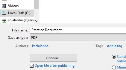 Save As: PDF