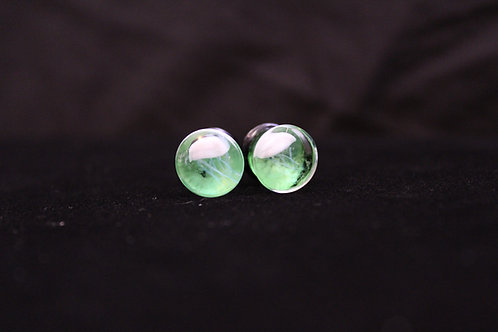 Green Glass Jellyfish Plugs