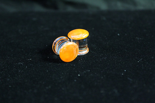 Orange Glass Plugs