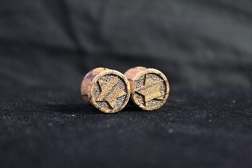 Zebrawood Star Plugs
