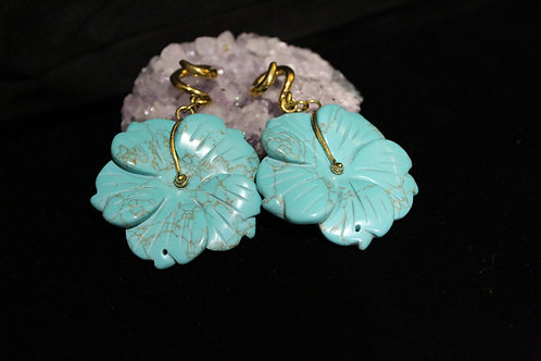Turquoise Flower Weights